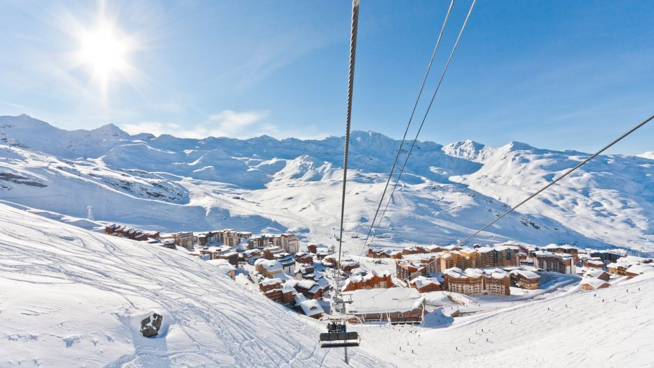 ski a val thorens france